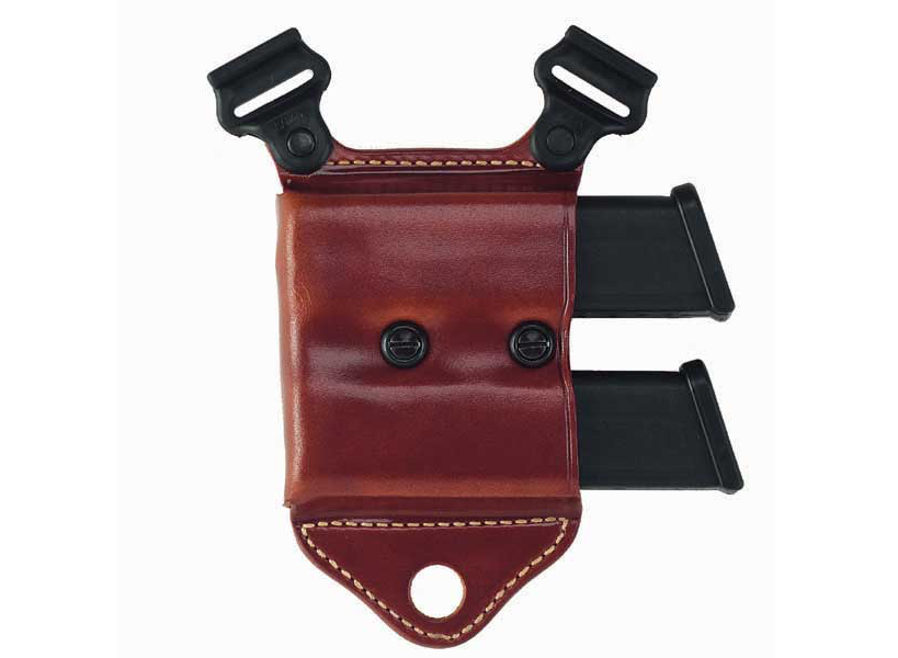 Galco's HCL mag carrier, which can be used with any of the company's shoulder harness systems.