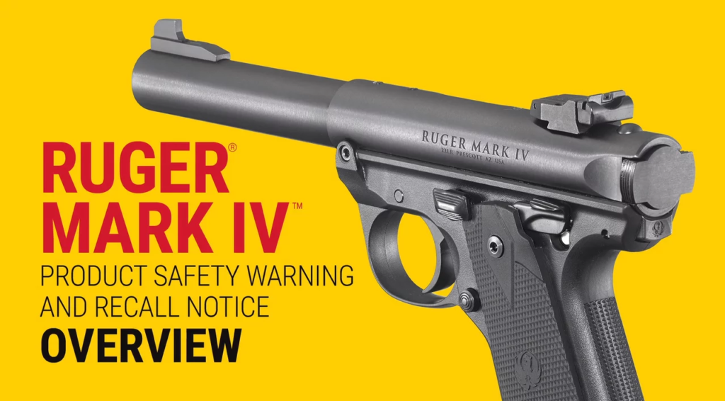 The company says to not use an affected gun until it's fixed.