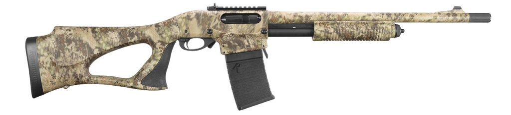 A hunter version of the 870 DM is coming next year, with a camp finish and thumbhole stock.