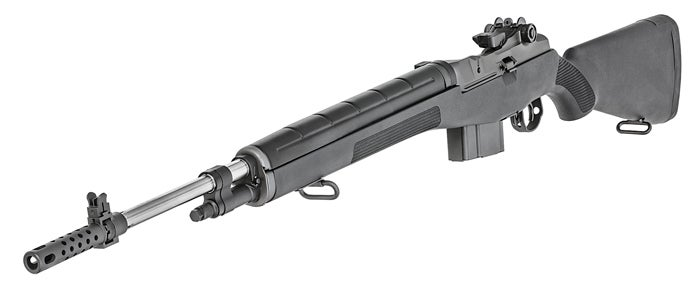 The new M1A in 6.5 Creedmoor with a black composite stock. This model is California compliant.