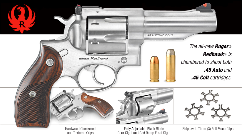 Ruger Redhawk in .45 Auto and .45 Colt