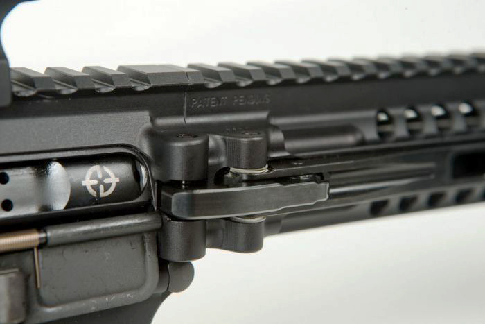The hook latch that secures the rifle when deployed is guaranteed for the life of the rifle.