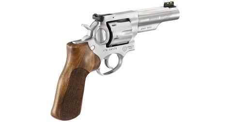 Another view of the new GP100 Champion Match 10mm revolver.