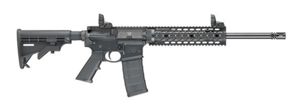 A Smith & Wesson 15T Tactical rifle, like the ones purchased by the district officers.