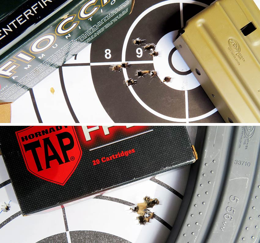 brownell retro xm16e1 target groupings