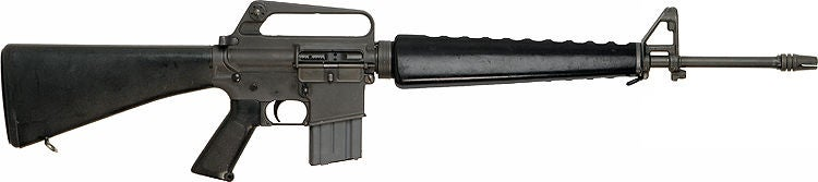 An original M16 with a 20-round magazine.