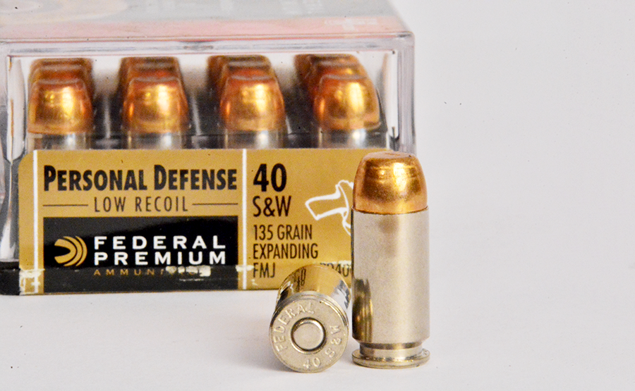 Federal's 135-grain Personal Defense load in .40 S&W has lower recoil than other .40 loads but still offers plenty of power.