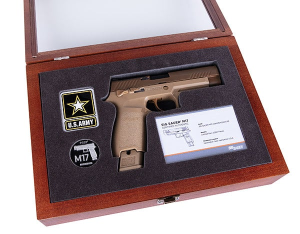 SIG is also selling a special display box for he pistol.
