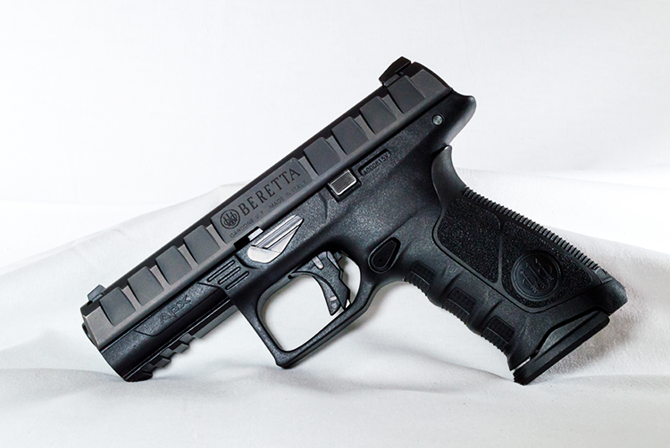 Left-side view of the Beretta APX Striker in 9mm.