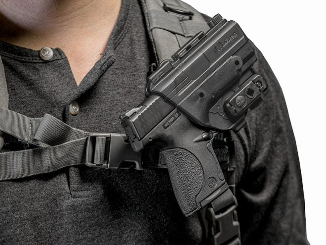 New Holster Attaches to Backpack Strap