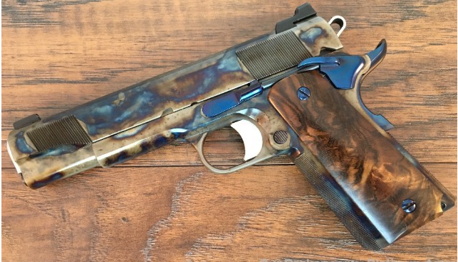 An example of a case-hardened 1911.