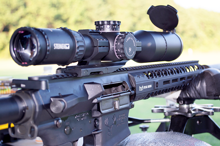 I tested this rifle with the very fancy Steiner T5xi 5-15x50 scope. It was a great pairing that made sight pictures at 800 yards easy.