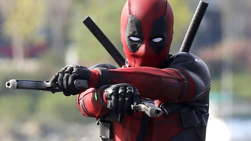 Deadpool with his twin Desert Eagles.