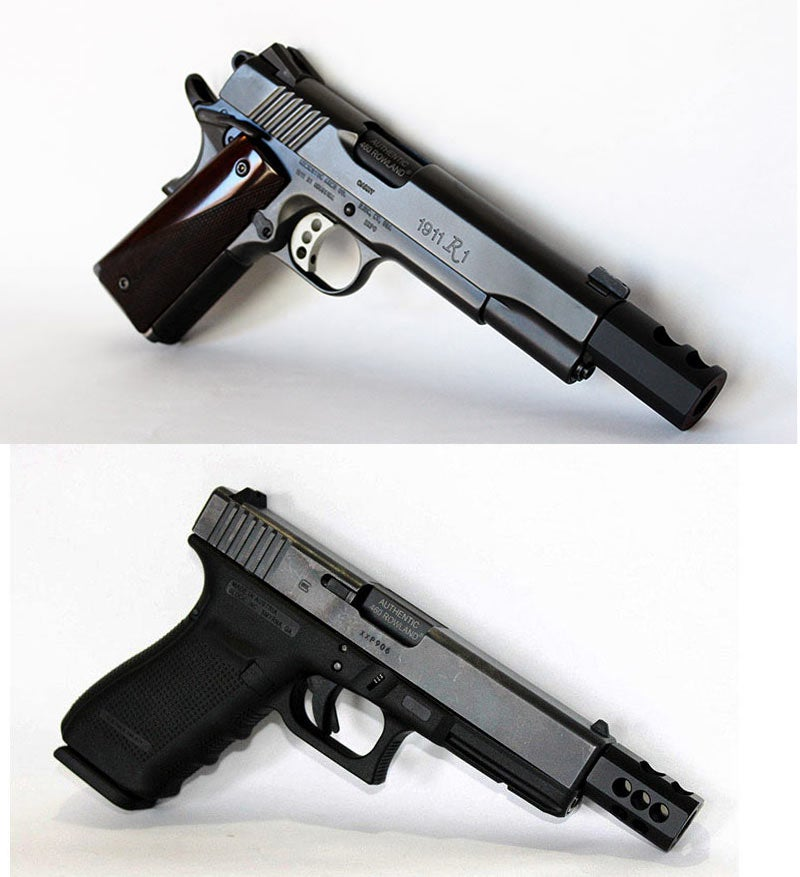 two rowland conversions hunting handguns