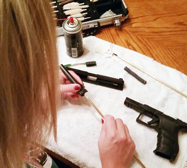 Cleaning your gun thoroughly and regularly is important to make sure it's in working order.