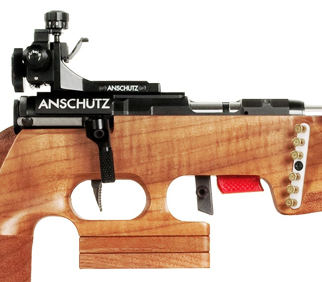 seriously high-tech iron sights allow precise adjustment for weather conditions