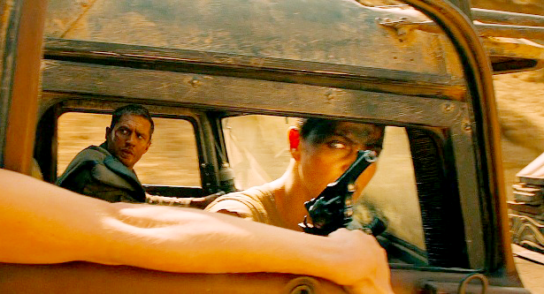 Furiosa uses a Webley to gun down one of Immortan Joe's War Boys near the end of the first chase.