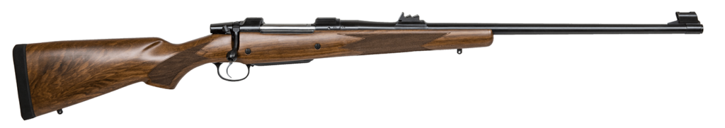 The CZ American Safari Magnum is a dangerous game rifle chambered in .375 H&H Magnum, .416 Rigby, .458 Win. Mag., and .458 Lott.