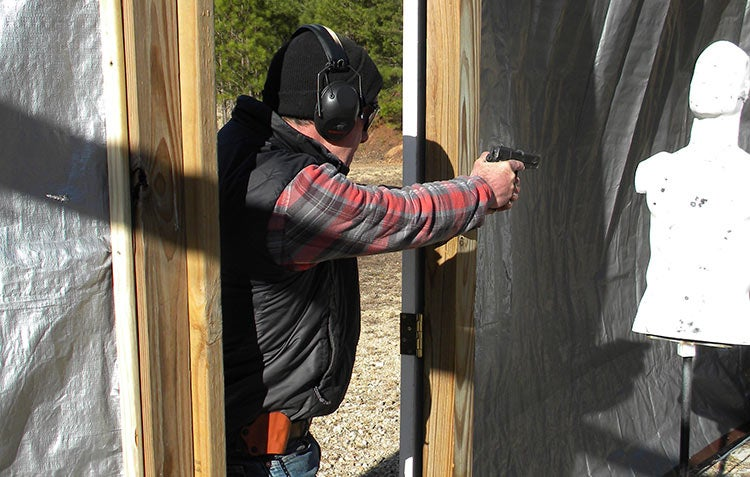 home defense course door aiming