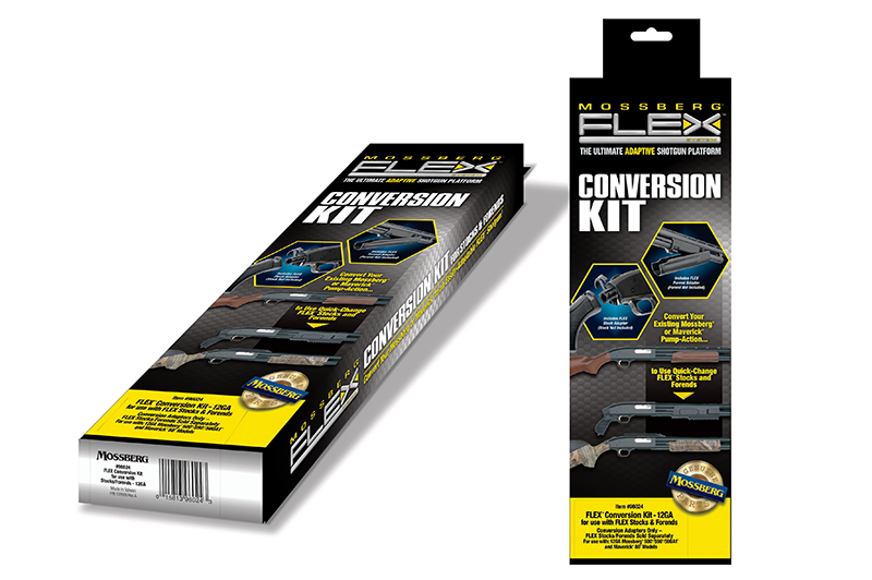 The kits allow any Mossberg 500 or Maverick 88 shotguns to use the company's quick-change FLEX accessories.