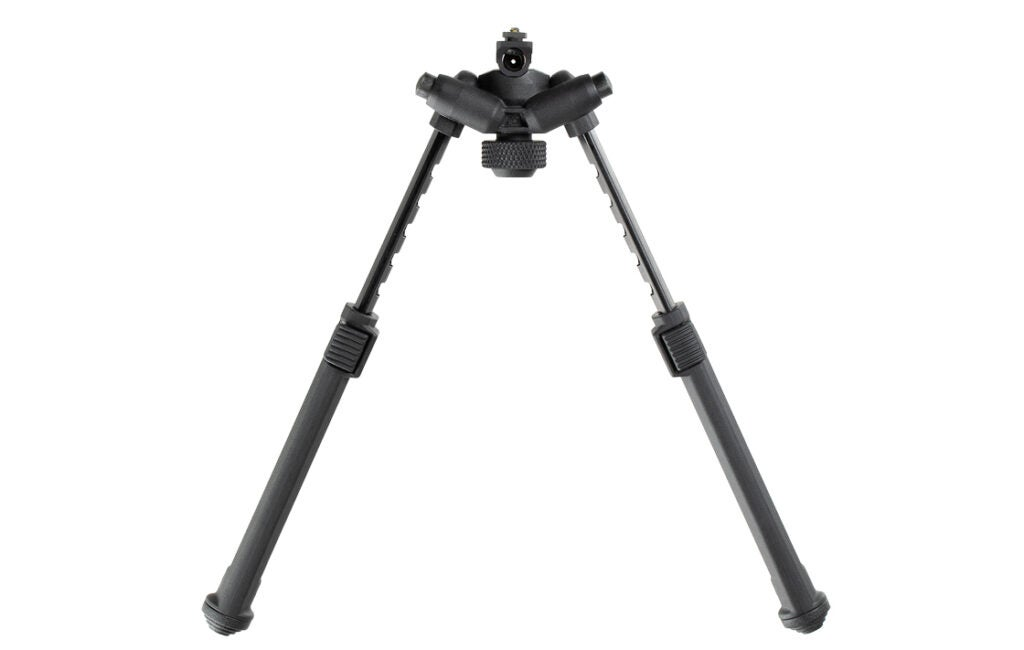 The Magpul Bipod fully extended.