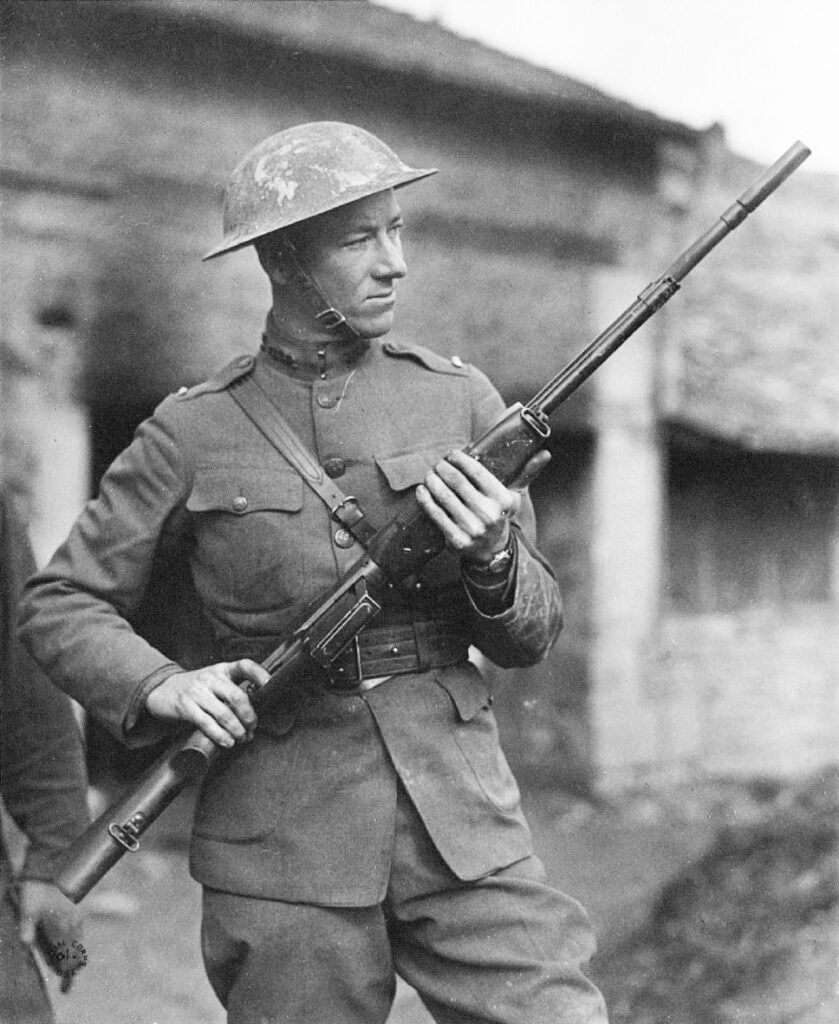 Val Browning with an M1918 BAR.