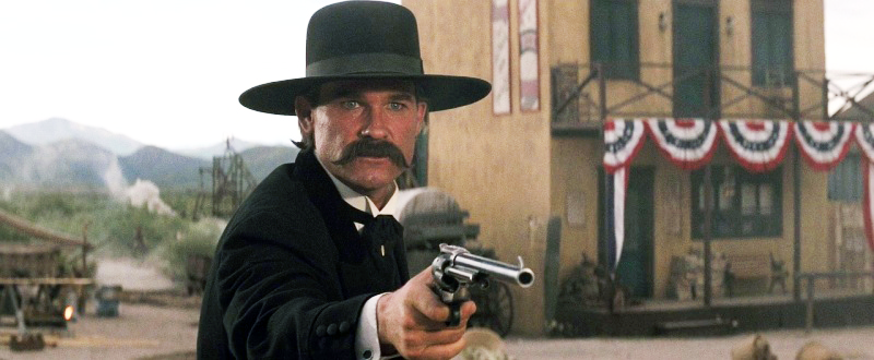Earp with his Buntline at the gunfight at the OK Corral.