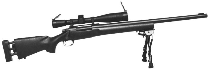 The M24 sniper rifle is the military and police version of the Remington 700.