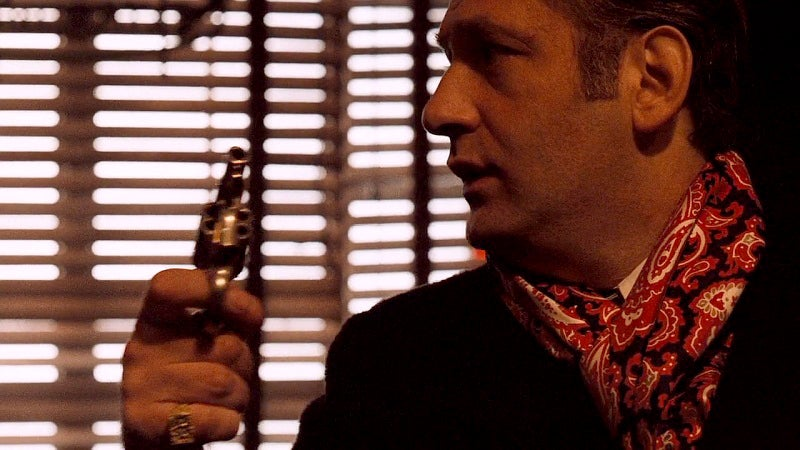 Carmine pulls a nickel Colt Detective Special as a cop enters the bar during the Pentangeli hit.