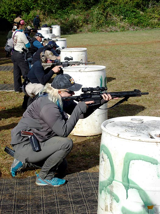 dry fire drills at defensive urban rifle course