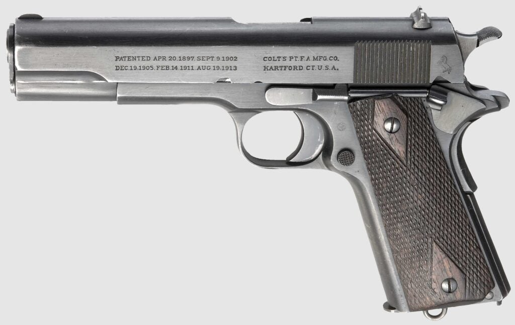 An example of a Colt M1911.
