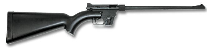 An Armalite AR-7 Survival Rifle is made to be disassembled, with all parts fitting inside its hollow stock.