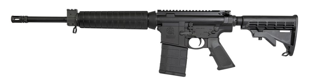 A revers shot of the M&P10 Sport Rifle.