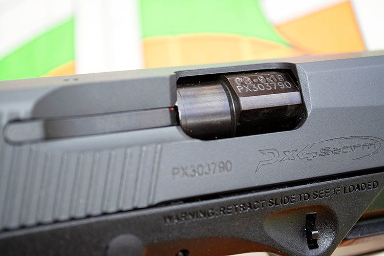 beretta px4 compact ejection port