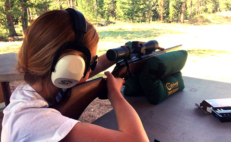 The Weatherby Vanguard Camilla is a beautiful gun designed specifically for female shooters. We paired it with a Tract Tekoa scope which offers excellent optical quality.