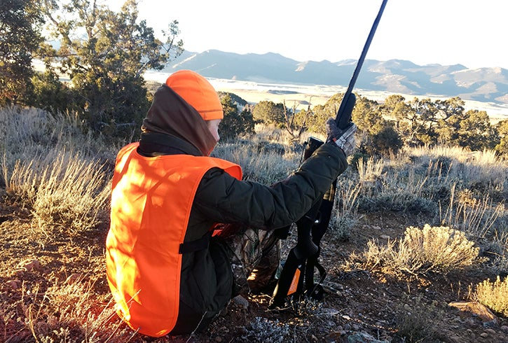 The Tikka T3x was comfortable for our daughter to carry during long hikes on the sagebrush flats.