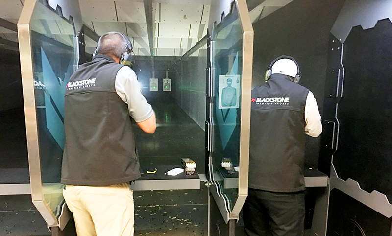 Indoor ranges almost always feature individual shooting lanes. Automated target tracks allow you to call the target frame back to your position, change targets, then send it back down range.