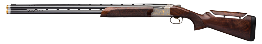 A view of the new Citori 725 Sporting Golden Clays Sporting Clays from the left side.
