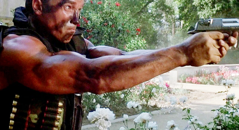Matrix uses the Desert Eagle during the assault on the mansion.