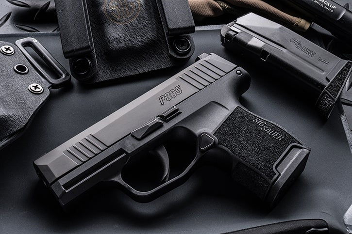The new SIG-Sauer P365 has an impressive 10+1 capacity for its diminutive size.