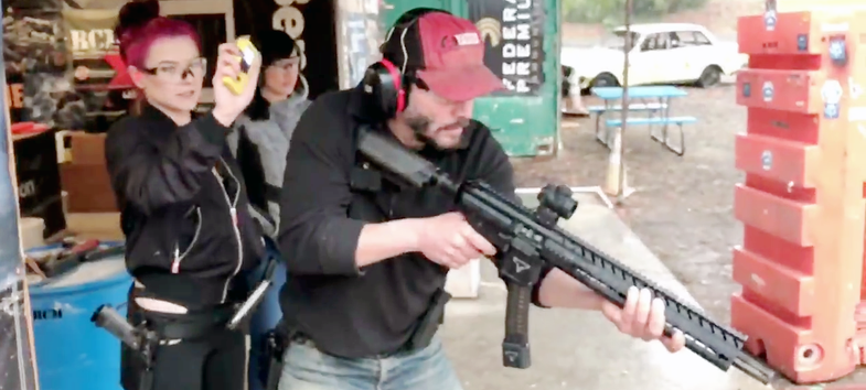 More Proof Keanu Reeves is a Real Shooter