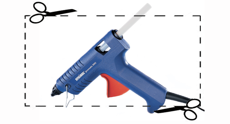 A glue gun like this caused a lockdown at Colgate University. The student who was carrying the device had been working on a project for an art class.