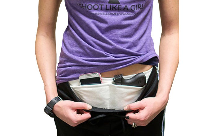 The Well Armed Woman offers this variation of the bellyband holster.