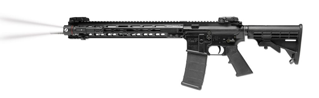 This year they're launching five new tactical lights for long guns. Four of the new products are rail-mounted lights for rifles, and the fifth is new Rail Master CMR-208 for rail-equipped firearms.
