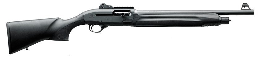 Tom's choice for spooky specters: a Beretta 1301 Tactical loaded with rock salt rounds.
