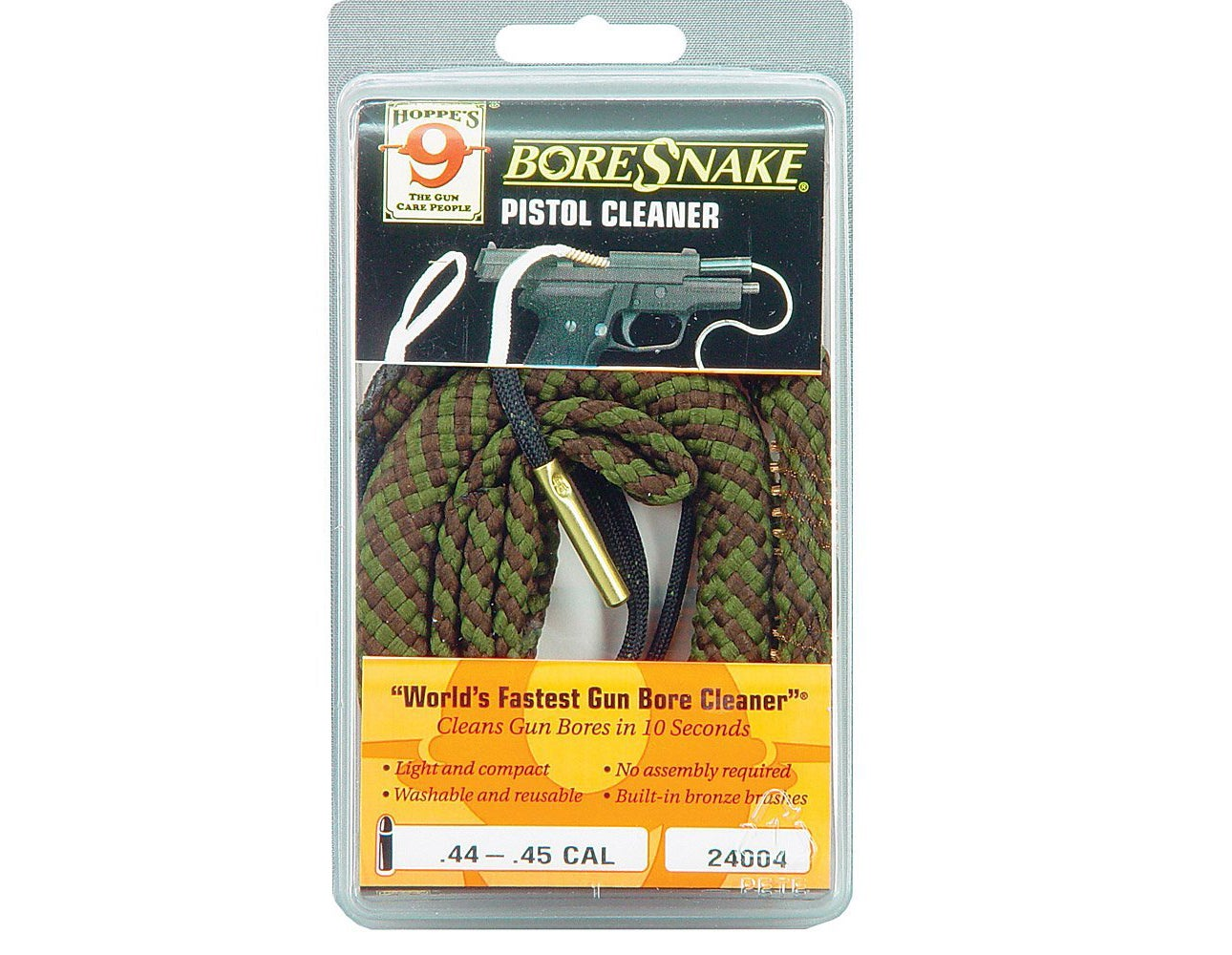 Hoppe's Boresnakes are a great way to give your barrel a quick cleaning at the range, and even work well to do a deeper clean at home.