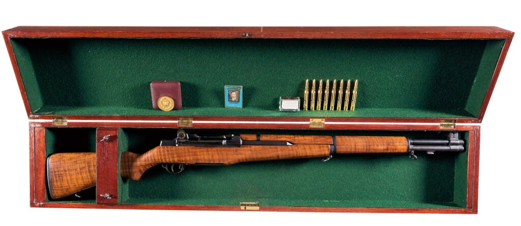 The rifle was sold with its original presentation case.