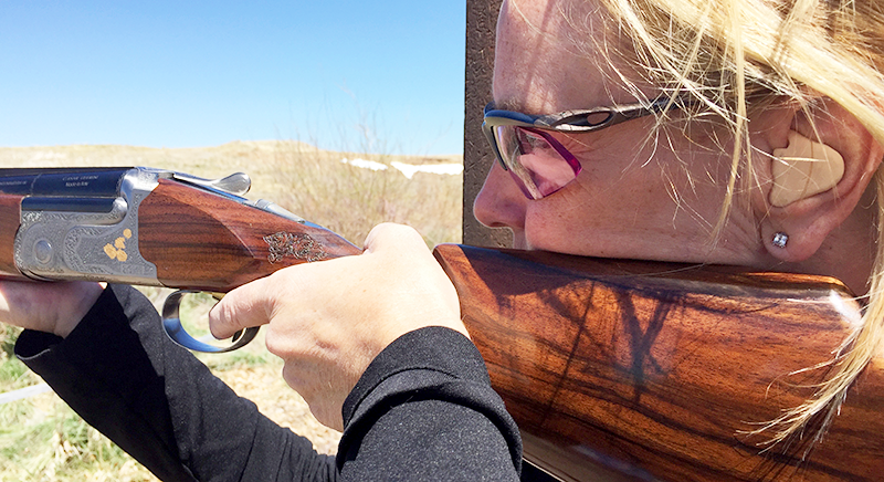 Cynthia Kruger, a five-time All American in sporting clays, is now providing instruction at Kiowa Creek Sporting Clays in Bennet, Colorado.