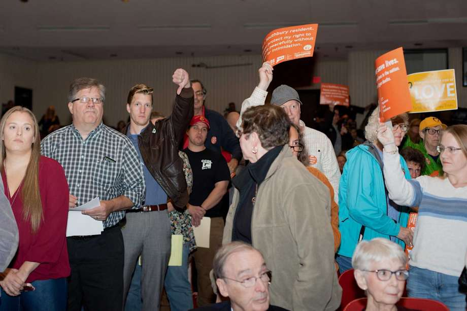 A crowd of about 1,000 turned out for a public hearing on the matter in Southbury, Connecticut.