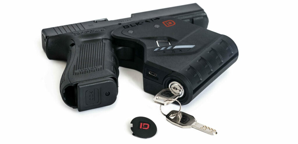 The Indentilock uses a key as a secondary backup system should the fingerprint scanner fail.